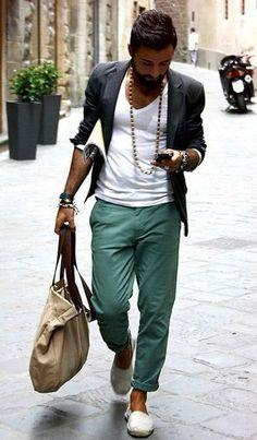 Men's Bohemian Fashion for Summer {Men's boho bohemian hippie fashion, style guide} #bohemianfashion,