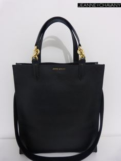 Introducing: Miss Janice Taurillon Matt Black calf skin  Discretly branded  With Gold plated chain Soft leather lining  Internal slide pocket  Comes with branded dust bag  Handcrafted in FRANCE