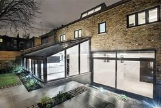 Let more light into your home with a stunning glass extension Kitchen Extension, Bungalow Extensions, Orangery, Modern Kitchen Extensions, Vintage House, Lean To Conservatory, Modern Large Kitchens, Custom Closet Shelving, House