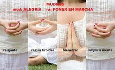 Los Mudras son ejercicios para ayudarnos a a entrar en calma y bienestar. Los movimientos buscan desencadenar los mecanismos que despiertan la alegría.