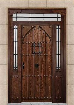 Cabin Homes, Cottage Homes, Spanish Front Door, Gate Decoration, Custom Gates, Purple Door, Medieval, Wooden Gates, Knobs And Knockers