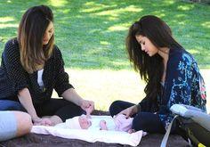Selena Gomez with newborn baby sister Gracie Elliott and mother Mandy Teefey