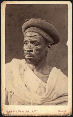 Portrait of an Afro-Brazilian man, Bahia, Brazil, by Alberto Herschel, ca. Brazilian Men, Ferrat, Orisha, Afro Art, Photo Reference, Black People, Old Pictures, Archaeology, Old World
