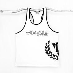 White Gym Tback Singlet | Virtue Clothing