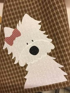 Wool Applique, Applique Patterns, Applique Quilts, Embroidery Applique, Quilt Patterns, Quilt Baby, Baby Girl Quilts, Girls Quilts, Dog Crafts