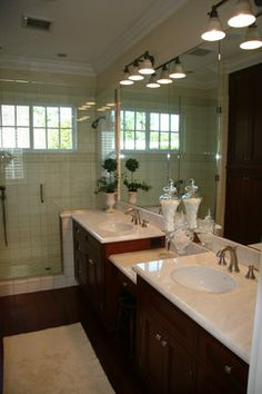 double sink vanity with makeup area. Double Sink With Makeup Vanity Design Ideas  Pictures Remodel and Decor double sink bathroom vanity with makeup area In Master Bath the