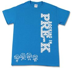 Rhinestone, embroidered, screenprinted, and appliqued shirts designed for pre-k teachers