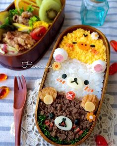 1週間分のお弁当たち〜ショックな出来事 Cute Bento Boxes, Bento Box Lunch, Japanese Lunch Box, Japanese Food, Rilakkuma, Cute Food, Kawaii Bento, Cute Desserts, Chibi Food