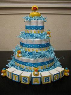 Rubber ducky diaper cake--TARA OGDIN
