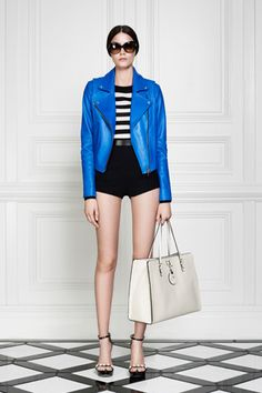 Blue leather and bloomers - Jason Wu Resort '13. #fashion #resort