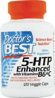 Doctor's Best 5-HTP Enhanced with Vitamins B6 and C helps maintain mental and emotional well-being
