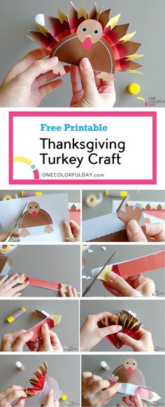 A last minute Thanksgiving turkey craft. There is a lot of coloring, cutting, folding! Easy and fun craft to keep the children engaged. Cheap Fall Crafts For Kids, Thanksgiving Crafts For Toddlers, Easy Fall Crafts, Thanksgiving Turkey, Fun Crafts, Easy Origami For Kids, Turkey Craft, Printable Crafts, Toddler Crafts