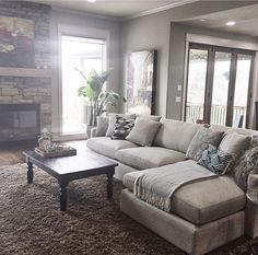 Wonderful And Relaxing Living Room Design Ideas. Here are the And Relaxing Living Room Design Ideas. This post about And Relaxing Living Room Design Ideas was posted under the Living Room category by our team at March 2019 at pm. Hope you enjoy it and . Living Room Carpet, Cozy Living Rooms, Home Living Room, Living Room Designs, Living Room Furniture, Farmhouse Living Rooms, Family Furniture, Decoration Chic, Barn Living