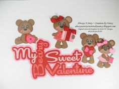 My Beary Sweet Valentine Title Paper Piecing Card by AlwaysAStory, $9.99