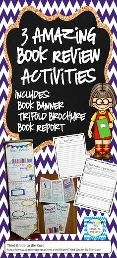 Three engaging activities that are perfect for any time of the year. They can be used with any book! They make a super cute display as well! It's a fun way for the students to look at the elements of a story.