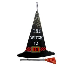Show your witchy side with this adorable Wooden Witch's Hat Sign ($6), which can be hung indoor or outdoors. http://thestir.cafemom.com/home_garden/190639/10_freaky_festive_halloween_decorations