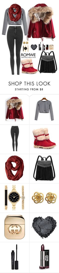 """""""Romwe 5"""" by amra-f ❤ liked on Polyvore featuring Style & Co., Gucci, Smashbox and Chanel"""