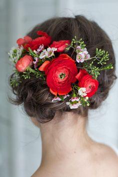 Pretty Floral Frisur Ideen für besondere Anlässe