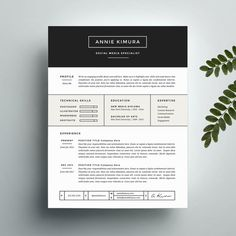 Resume template cover letter template for ms word and pages creative resume template and cover letter template for word instant digital download the annie professional and modern design yelopaper Choice Image