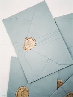 Blue Envelopes for Wedding Invitations with Gold Wax Seals Beach Wedding Invitations, Wedding Stationary, Invites, Event Invitations, Invitation Envelopes, Stationery Design, Invitation Design, Invitation Wording, Wedding Paper