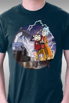 ccfb3a77733769 Interdimensional Rick and Morty Back to the Future Graphic Tee Back To The  Future