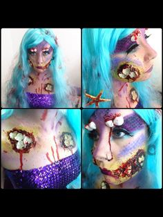 Its a freaking zombie mermaid, that effing awesome! I would so love to do this for halloween!