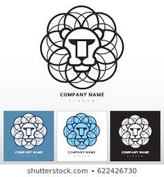 Vector de stock (libre de regalías) sobre Lion Head Abstract Vector Icon Template622426730