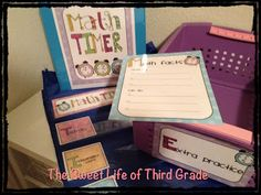 The Sweet Life of Third Grade: math