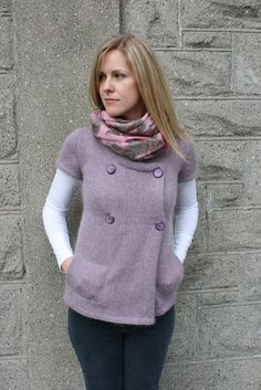 Koukla Cardigan by the yarniad. Also in the Brave New Knits book.