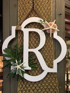 Beach Monogram Door Hanger