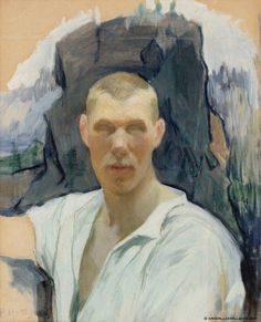 Pekka Halonen, Self Portrait, 1893, from The Life and Art of Pekka Halonen, http://www.alternativefinland.com/art-pekka-halonen/