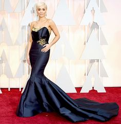 Rita Ora, who also performed at the show, looked regal in a custom gown.