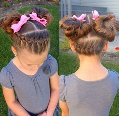 58 Ideas for braids two pony tails kids Little Girl Hairdos, Baby Girl Hairstyles, Work Hairstyles, Princess Hairstyles, Braided Hairstyles For Wedding, Hairstyles For School, Braids With Weave, Toddler Hair, Hair Dos