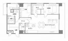家族の会話が絶えないLDK|プラン|renovation casa                                                                                                                                                                                 もっと見る Craftsman Floor Plans, House Floor Plans, Mansion Plans, Japanese House, Layout, House Design, Flooring, How To Plan, Mansions
