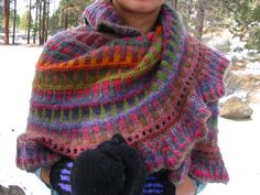 Knitted Mobius wrap.  gorgeous