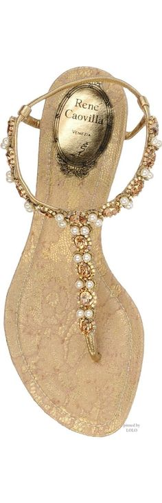 Gold and Pearl Sandal...Beautiful