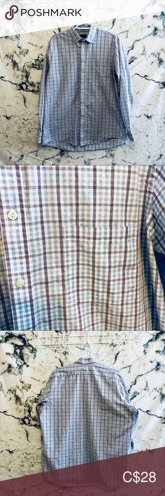 Arrow Dress Shirt In perfect condition Arrow Shirts Casual Button Down Shirts Casual Shirts For Men, Casual Button Down Shirts, Arrow Shirts, Dress Shirt, Colorful Shirts, Size 16, Man Shop, Closet, Blue