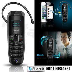 Worlds Smallest Mobile Phone Tiny Slim Unlocked Bluetooth 3.0 Headset Dialer UK