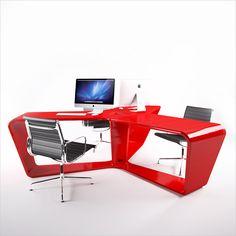 """#Scrivania da ufficio moderna e originale, interamente realizzata in Adamantx. """"Ta3le"""" è una postazione di lavoro per più persone, può ospitare fino a 3 utenti. Ideale negli open-space, è in grado di caratterizzare un ambiente con la sua dinamicità. By Viadurini Design. [www.viadurini.it]"""