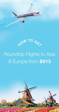 Singapore Airline Deals Roundtrip to Asia and Europe from $613