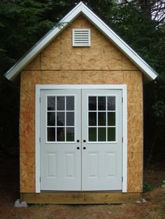 double doors, overhang on two sides | Garden Shed | Pinterest ...