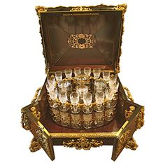 Extraordinary French Gilt Bronze-Mounted Tantalus Set Service for 32, circa 1870