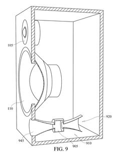 Patent US8391528 - Loudspeaker slotted duct port - Google Patents