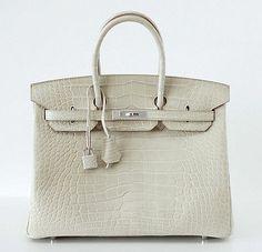 Hermes Birkin 35 Bag Matte Alligator Beton Palladium So Chic | eBay
