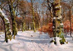 «Солнечный день в зимнем лесу», 1906 Частное собрание. 50х70. Ларионова Е.
