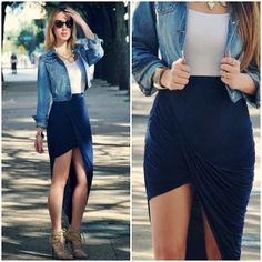 Cute. Love the asymmetrical skirt
