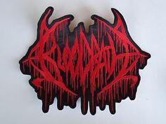 BLOODBATH EMBROIDERED LOGO BRUTAL DEATH METAL BACK PATCH Death Metal, Heavy Metal Patches, Battle Jacket, Back Patch, Black Metal, Grunge, Gothic, Detail, Rock