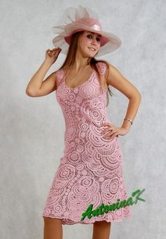 The most beautiful crocheted dress I've ever seen, from AntoninaK by alorac