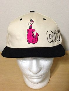 76f1cf976dc Dino Flintstones Hannah-Blockhead Barbera Vintage Snapback Hip-Hop Hat Cap  on Etsy