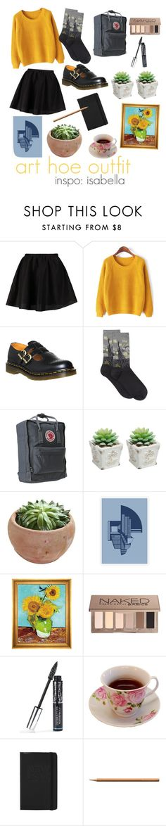 """art hoe outfit"" by arrctiic ❤ liked on Polyvore featuring ONLY, Dr. Martens, HOT SOX, Fjällräven, Munn Works, Urban Decay, Christian Dior, Faber-Castell, women's clothing and women"